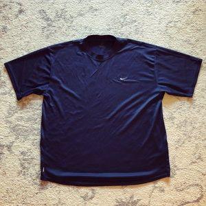 Navy blue Men's Nike Dri-Fit athletic t-shirt